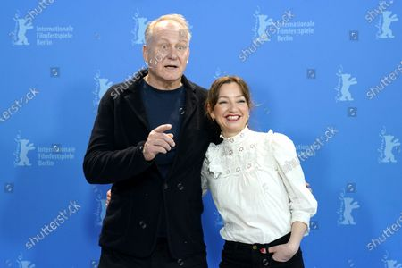 Stellan Skarsgard (L) and Andrea Bræin Hovig (R) pose during the 'Hope' (Hap) photocall during the 70th annual Berlin International Film Festival (Berlinale), in Berlin, Germany, 24 February 2020. The movie is presented in the Panorama section at the Berlinale that runs from 20 February to 01 March 2020.