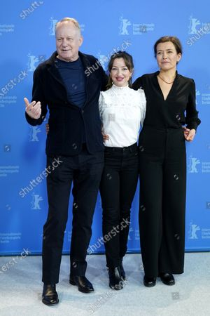 Stellan Skarsgard (L), Andrea Bræin Hovig (C) and Maria Sodahl (R) pose during the 'Hope' (Hap) photocall during the 70th annual Berlin International Film Festival (Berlinale), in Berlin, Germany, 24 February 2020. The movie is presented in the Panorama section at the Berlinale that runs from 20 February to 01 March 2020.
