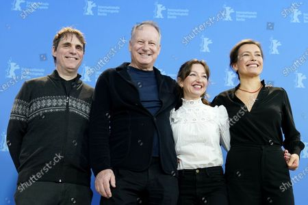 Thomas Robsahm, Stellan Skarsgard, Andrea Braein Hovig and Maria Sodahl pose during the 'Hope' (Hap) photocall during the 70th annual Berlin International Film Festival (Berlinale), in Berlin, Germany, 24 February 2020. The movie is presented in the Panorama section at the Berlinale that runs from 20 February to 01 March 2020.