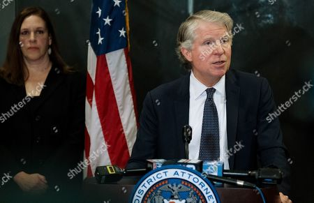 Manhattan District Attorney Cyrus Vance Jr., speaks after a verdict in the Harvey Weinstein rape trial, in New York. Vance spoke outside the courtroom, Monday, shortly after a jury convicted Weinstein of rape and sexual assault. The jury found him not guilty of the most serious charge, predatory sexual assault, which could have resulted in a life sentence