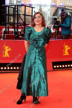 Blanche Gardin arrives for the premiere of 'Effacer l'historique' (Delete History) during the 70th annual Berlin International Film Festival (Berlinale), in Berlin, Germany, 24 February 2020. The movie is presented in the Official Competition at the Berlinale that runs from 20 February to 01 March 2020.