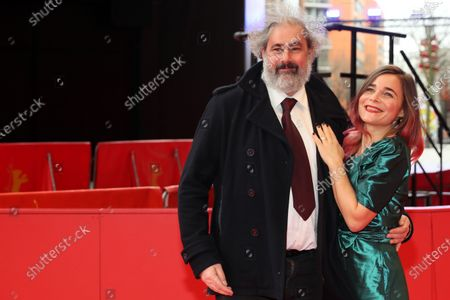 Gustave Kervern (L) and Blanche Gardin (R) arrive for the premiere of 'Effacer l'historique' (Delete History) during the 70th annual Berlin International Film Festival (Berlinale), in Berlin, Germany, 24 February 2020. The movie is presented in the Official Competition at the Berlinale that runs from 20 February to 01 March 2020.