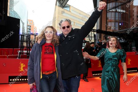 Corinne Masiero (L), Benoit Delepine (C) and Blanche Gardin (R) arrive for the premiere of 'Effacer l'historique' (Delete History) during the 70th annual Berlin International Film Festival (Berlinale), in Berlin, Germany, 24 February 2020. The movie is presented in the Official Competition at the Berlinale that runs from 20 February to 01 March 2020.