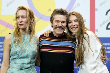 Dounia Sichov, Willem Dafoe and Cristina Chiriac attend the 'Siberia' press conference during the 70th annual Berlin International Film Festival (Berlinale), in Berlin, Germany, 21 February 2020. The movie is presented in the Official Competition at the Berlinale that runs from 20 February to 01 March 2020.