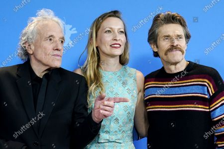 Dounia Sichov (C), Abel Ferrara (L) and Willem Dafoe (R) pose during the 'Siberia' photocall during the 70th annual Berlin International Film Festival (Berlinale), in Berlin, Germany, 24 February 2020. The movie is presented in the Official Competition at the Berlinale that runs from 20 February to 01 March 2020.