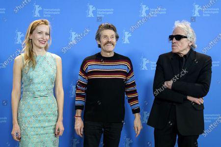 Dounia Sichov (L), Abel Ferrara (R) and Willem Dafoe (C) pose during the 'Siberia' photocall during the 70th annual Berlin International Film Festival (Berlinale), in Berlin, Germany, 24 February 2020. The movie is presented in the Official Competition at the Berlinale that runs from 20 February to 01 March 2020.