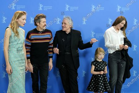 Dounia Sichov (L), Abel Ferrara (C), Willem Dafoe (2-L), Cristina Chiriac (R) and daughter Anna (2-R) pose during the 'Siberia' photocall during the 70th annual Berlin International Film Festival (Berlinale), in Berlin, Germany, 24 February 2020. The movie is presented in the Official Competition at the Berlinale that runs from 20 February to 01 March 2020.