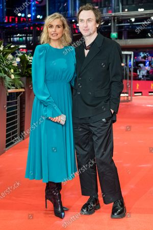 Nina Hoss (L) and Lars Eidinger (R) arrive for the premiere of 'Schwesterlein' (My Little Sister) during the 70th annual Berlin International Film Festival (Berlinale), in Berlin, Germany, 24 February 2020. The movie is presented in the Official Competition at the Berlinale that runs from 20 February to 01 March 2020.