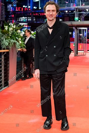 Lars Eidinger arrives for the premiere of 'Schwesterlein' (My Little Sister) during the 70th annual Berlin International Film Festival (Berlinale), in Berlin, Germany, 24 February 2020. The movie is presented in the Official Competition at the Berlinale that runs from 20 February to 01 March 2020.
