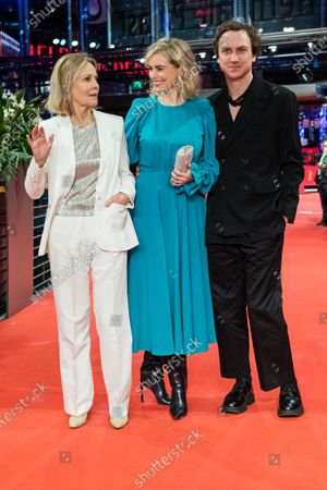 Marthe Keller (L), Nina Hoss (C) and Lars Eidinger (R) arrive for the premiere of 'Schwesterlein' (My Little Sister) during the 70th annual Berlin International Film Festival (Berlinale), in Berlin, Germany, 24 February 2020. The movie is presented in the Official Competition at the Berlinale that runs from 20 February to 01 March 2020.