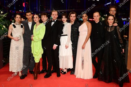 Actors and actresses of the European Shooting Stars 2020, Ella Rumpf, Bilal Wahib, Victoria Carmen Sonne, Levan Gelbakhiani, Paaru Oja, Bartosz Bielenia, Joana Ribeiro, Jonas Dassler, Zita Hanrot, Martina Apostolova and guests arrive for the premiere of 'Schwesterlein' (My Little Sister) during the 70th annual Berlin International Film Festival (Berlinale), in Berlin, Germany, 24 February 2020. The movie is presented in the Official Competition at the Berlinale that runs from 20 February to 01 March 2020.