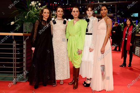 Actresses of the European Shooting Stars 2020, Martina Apostolova, Ella Rumpf, Victoria Carmen Sonne, Joana Ribeiro and Zita Hanrot arrive for the premiere of 'Schwesterlein' (My Little Sister) during the 70th annual Berlin International Film Festival (Berlinale), in Berlin, Germany, 24 February 2020. The movie is presented in the Official Competition at the Berlinale that runs from 20 February to 01 March 2020.