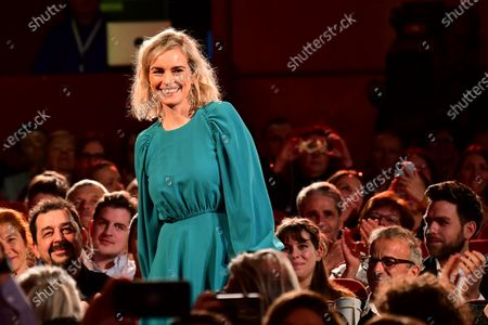 Nina Hoss attends the European Shooting Stars 2020 presentation and the premiere of 'Schwesterlein' (My Little Sister) during the 70th annual Berlin International Film Festival (Berlinale), in Berlin, Germany, 24 February 2020. The movie is presented in the Official Competition at the Berlinale that runs from 20 February to 01 March 2020.