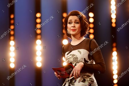 Host of the ceremony Loretta Stern speaks during the European Shooting Stars 2020 presentation and the premiere of 'Schwesterlein' (My Little Sister) during the 70th annual Berlin International Film Festival (Berlinale), in Berlin, Germany, 24 February 2020. The movie is presented in the Official Competition at the Berlinale that runs from 20 February to 01 March 2020.