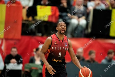 Jonathan Tabu of Belgium in action during the Eurobasket 2021 qualification match between Denmark and Belgium in Farum, Denmark, 24 February 2020.