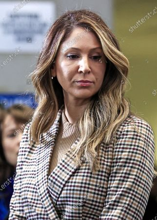 Attorney Tina Glandian listens to a question about US actor Jussie Smollett at the Leighton Criminal Courthouse after she entered a not guilty plea on Smollett's behalf during his arraignment on felony charges of disorderly conduct in Chicago, Illinois, USA, 24 February 2020. Smollett is charged with allegedly filing a false police report over a hate crime attack where he says he was doused with bleach and a noose placed around his neck. Law enforcement officials are convinced he paid two people to attack him in order to further his acting career. A special prosecutor took the case to a grand jury which returned the indictment after original charges were dropped by the state's attorney.