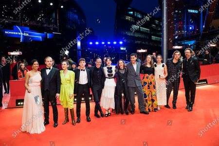 Actors and actresses of the European Shooting Stars 2020, Ella Rumpf, Bilal Wahib, Victoria Carmen Sonne, Levan Gelbakhiani, Paaru Oja, Bartosz Bielenia, Joana Ribeiro, Jonas Dassler, Zita Hanrot, Martina Apostolova and guests arrive for the European Shooting Stars 2020 ceremony during the 70th annual Berlin International Film Festival (Berlinale), in Berlin, Germany, 24 February 2020. The movie is presented in the Official Competition at the Berlinale that runs from 20 February to 01 March 2020.