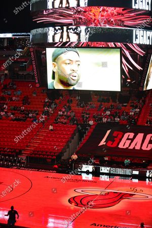 Stock Image of Atmosphere during An early access screening of Imagine Entertainment and ESPN Films' definitive Dwyane Wade documentary, which chronicles the star's life on and off the court with never-before-seen footage presented by Gatorade Zero at AmericanAirlines Arena