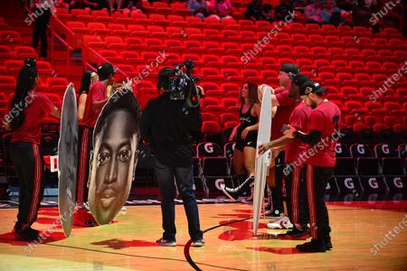 Atmosphere during An early access screening of Imagine Entertainment and ESPN Films' definitive Dwyane Wade documentary, which chronicles the star's life on and off the court with never-before-seen footage presented by Gatorade Zero at AmericanAirlines Arena