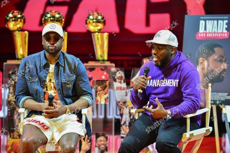 Dwyane Wade and director Bob Metelus discusses role in creating Wade documentary during An early access screening of Imagine Entertainment and ESPN Films' definitive Dwyane Wade documentary, which chronicles the star's life on and off the court with never-before-seen footage presented by Gatorade Zero at AmericanAirlines Arena