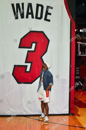 Stock Photo of Dwyane Wade discusses role in creating his documentary during An early access screening of Imagine Entertainment and ESPN Films' definitive Dwyane Wade documentary, which chronicles the star's life on and off the court with never-before-seen footage presented by Gatorade Zero at AmericanAirlines Arena