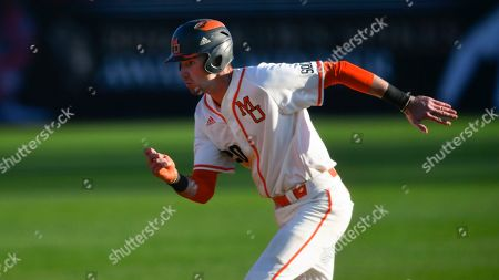 Stock Photo of Mercer player Collin Price is shown during an NCAA college baseball game against Radford, in Macon, Ga
