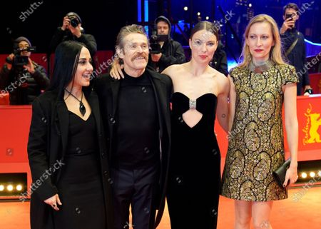 Giada Colagrande, Willem Dafoe, Christina Chiriac Ferrara and Dounia Sichov arrive for the premiere of 'Siberia' during the 70th annual Berlin International Film Festival (Berlinale), in Berlin, Germany, 24 February 2020. The movie is presented in the Official Competition at the Berlinale that runs from 20 February to 01 March 2020.