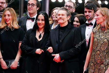 Giada Colagrande (C-L) and Willem Dafoe (C-R) arrive for the premiere of 'Siberia' during the 70th annual Berlin International Film Festival (Berlinale), in Berlin, Germany, 24 February 2020. The movie is presented in the Official Competition at the Berlinale that runs from 20 February to 01 March 2020.