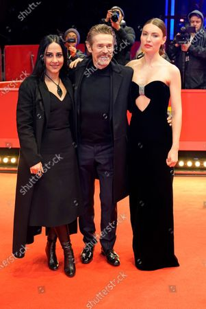 Giada Colagrande, Willem Dafoe and Christina Chiriac Ferrara arrive for the premiere of 'Siberia' during the 70th annual Berlin International Film Festival (Berlinale), in Berlin, Germany, 24 February 2020. The movie is presented in the Official Competition at the Berlinale that runs from 20 February to 01 March 2020.