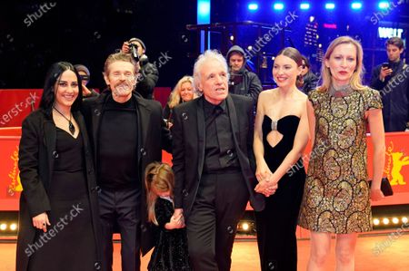 Giada Colagrande, Willem Dafoe, Anna Ferrara, Abel Ferrara, Christina Chiriac Ferrara and Dounia Sichov arrive for the premiere of 'Siberia' during the 70th annual Berlin International Film Festival (Berlinale), in Berlin, Germany, 24 February 2020. The movie is presented in the Official Competition at the Berlinale that runs from 20 February to 01 March 2020.