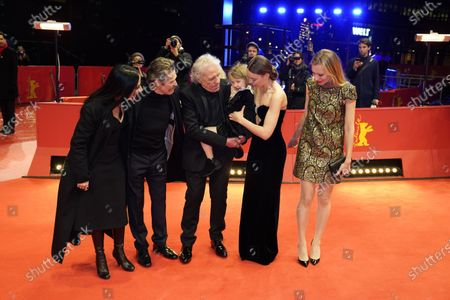 Giada Colagrande, Willem Dafoe, Abel Ferrara, Anna Ferrara, Christina Chiriac Ferrara and Dounia Sichov arrive for the premiere of 'Siberia' during the 70th annual Berlin International Film Festival (Berlinale), in Berlin, Germany, 24 February 2020. The movie is presented in the Official Competition at the Berlinale that runs from 20 February to 01 March 2020.