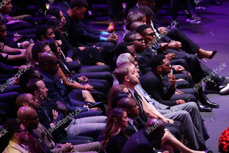 NBA star Bill Russell attends during a celebration of life for Kobe Bryant and his daughter Gianna Monday, Feb. 24, 2020, in Los Angeles. (AP Photo/Marcio Jose Sanchez)