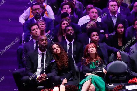 Former Los Angeles Laker coach Luke Walton attends during a celebration of life for Kobe Bryant and his daughter Gianna Monday, Feb. 24, 2020, in Los Angeles.