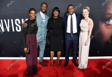 Aldis Hodge (CL), Edwin Hodge (CR) and guests