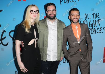 Stock Image of Elle Fanning, Brett Haley and Justice Smith