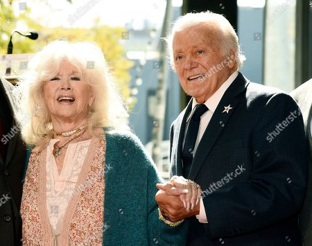 Connie Stevens, Tony Butala. Guest speaker Connie Stevens, left, and Tony Butala, a founding member of the pop vocal group The Lettermen, pose together during a ceremony to award the group a star on the Hollywood Walk of Fame, in Los Angeles