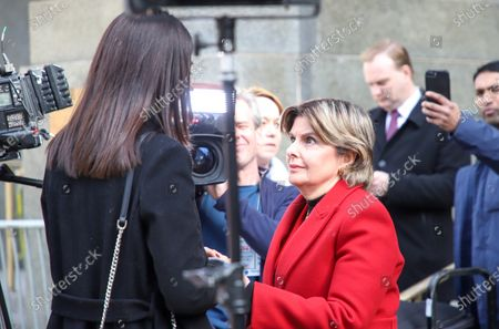 Ambra Battilana, a Filipina-Italian model and Gloria Allred who represents three of Harvey Weinstein's accusers, stands beside Weinstein's lawyer Donna Rotunno before they spoke to the media outside court after Weinstein was found guilty of a criminal sexual act and third degree rape.