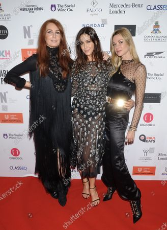 Angela Radcliffe, Lisa Snowdon and guest