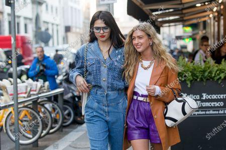 Editorial photo of Street style, Fall Winter 2020, Milan Fashion Week, Italy - 22 Feb 2020