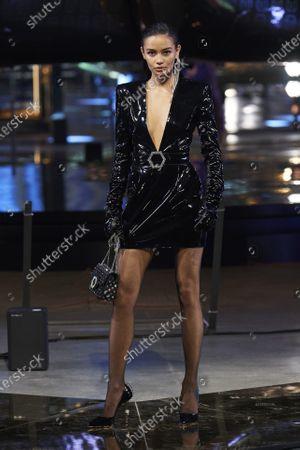 Stock Image of Kelsey Merritt on the catwalk