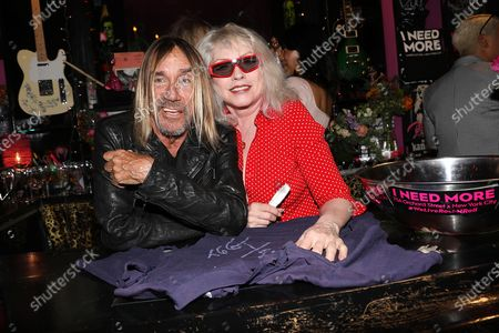 Stock Photo of Iggy Pop and Deborah Harry