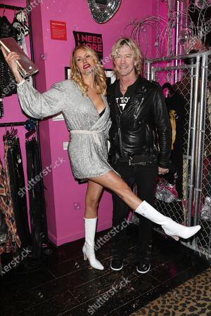Stock Image of Susan Holmes McKagan and Duff McKagan