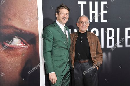 "Jason Blum, Ron Meyer. Jason Blum, left, and Ron Meyer attend the LA premiere of ""The Invisible Man"" at the TCL Chinese Theatre, in Los Angeles"