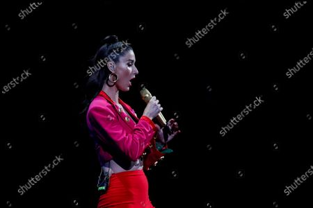 Editorial image of Second night of Vina del Mar song Festival, Chile - 24 Feb 2020