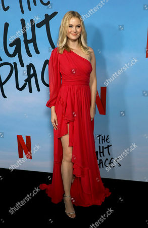 """Virginia Gardner arrives at the LA Special Screening of """"All The Bright Places"""" at the ArcLight Cinemas Hollywood, in Los Angeles"""