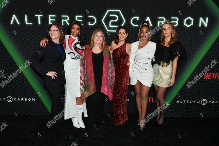 Stock Photo of Dana Goldberg, Renee Elise Goldsberry, Alison Schapker, Lela Loren, Simone Missick, Dina Shihabi