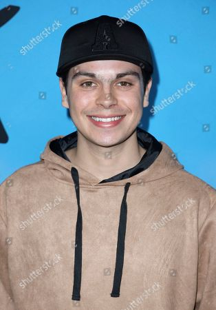 """Jake T. Austin arrives at the LA Special Screening of """"All The Bright Places"""" at the ArcLight Cinemas Hollywood, in Los Angeles"""