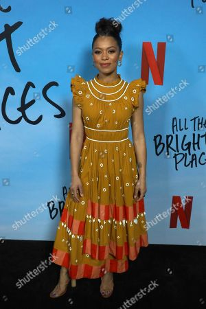"Jaz Sinclair arrives at the LA Special Screening of ""All The Bright Places"" at the ArcLight Cinemas Hollywood, in Los Angeles"