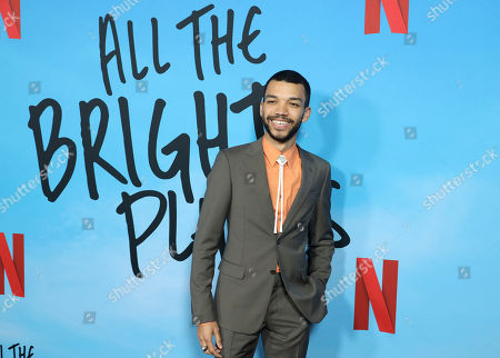 "Justice Smith arrives at the LA Special Screening of ""All The Bright Places"" at the ArcLight Cinemas Hollywood, in Los Angeles"