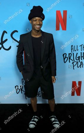 """Stock Image of Lamar Johnson arrives at the LA Special Screening of """"All The Bright Places"""" at the ArcLight Cinemas Hollywood, in Los Angeles"""
